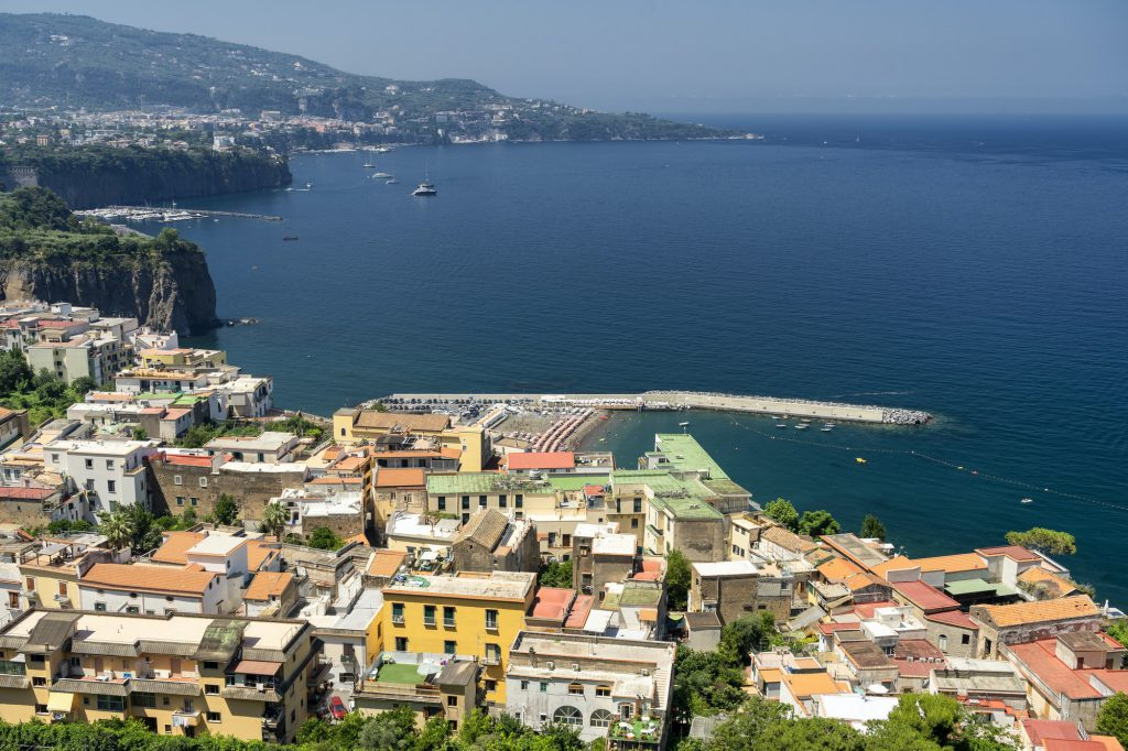 Meta di Sorrento, Naples: the coast at summer