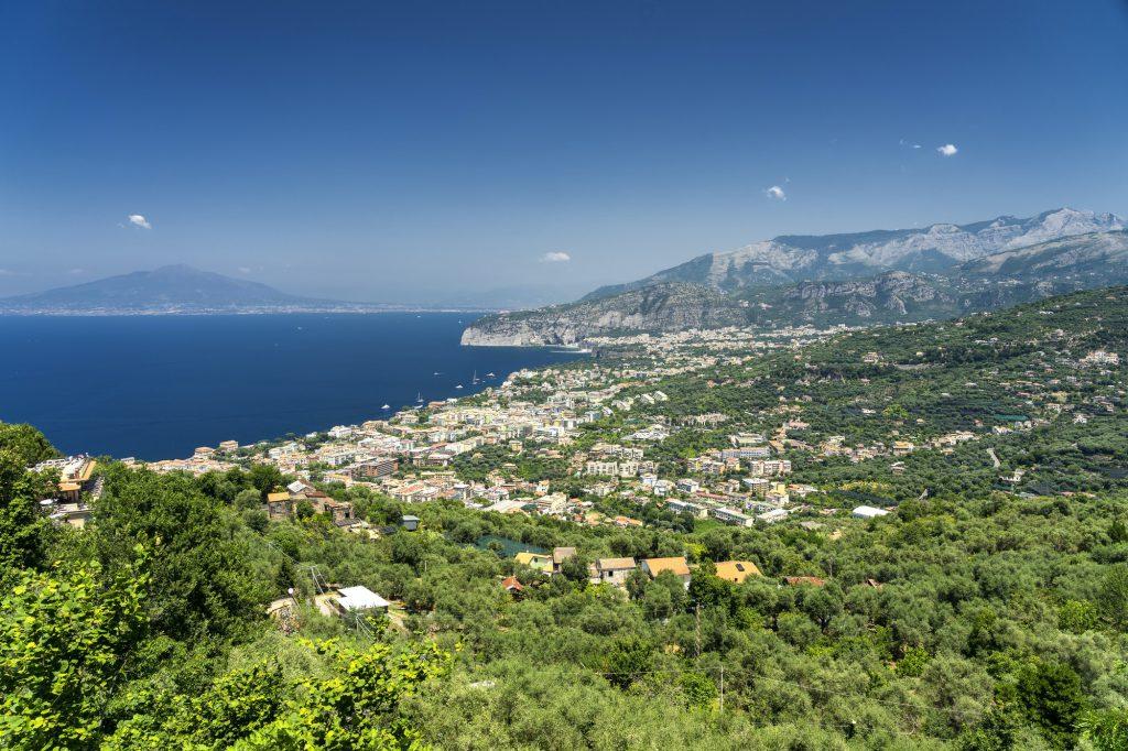 Sorrento, Naples: the coast at summer