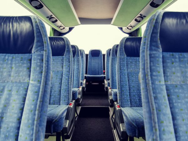 travel bus interior and seats